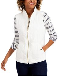 Charter Club Quilted Vest, In Regular & Petite, Created For Macy's - White
