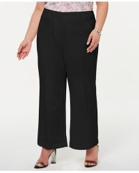 1.STATE - Plus Size Textured Crepe Mini Kick Flare Pants - Lyst