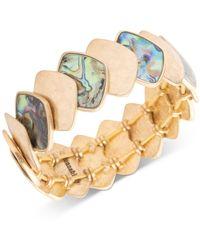 Lonna & Lilly - Gold-tone Abalone Stretch Bracelet - Lyst