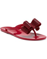 INC International Concepts Inc Madena Bow Jelly Sandals, Created For Macy's - Red
