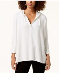 Style & Co. - Petite 3/4-sleeve Hooded Top, Created For Macy's - Lyst