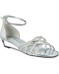 Easy Street Tarrah Evening Sandals - Metallic
