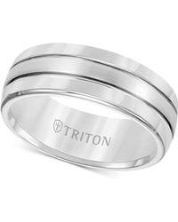 Triton Tungsten Carbide Ring, Comfort Fit Wedding Band (8mm) - Multicolor