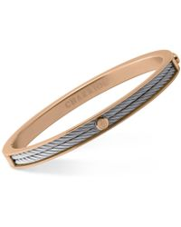 Charriol - Women's Forever Two-tone Pvd Stainless Steel Cable Bangle Bracelet - Lyst