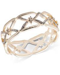 Jenny Packham - Gold-tone Pavé Openwork Bangle Bracelet - Lyst