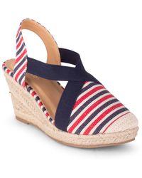 Wanted Closed Toe Wedge Sandal - Blue