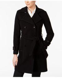 Anne Klein - Wool-blend Belted Walker Coat - Lyst
