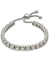 Danori - Silver-tone Crystal Slider Bracelet, Created For Macy's - Lyst