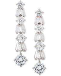 Giani Bernini - Cubic Zirconia Linear Drop Earrings In Sterling Silver, Created For Macy's - Lyst