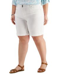 Style & Co. Plus Size Bermuda Shorts, Created For Macy's - White