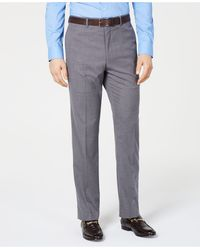 Vince Camuto Slim-fit Stretch Wrinkle-resistant Suit Pants - Gray