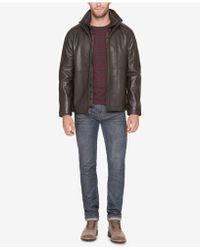 Marc New York - Leather Jacket With Bib - Lyst