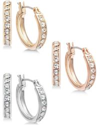 INC International Concepts Inc Tri-tone Metal 3-pc. Small Hoop Earrings Set, Created For Macy's - Multicolor