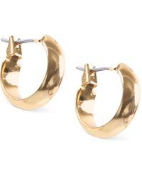 Anne Klein - Silver-tone Small Hoop Earrings - Lyst