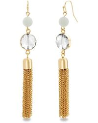 Catherine Malandrino - Beaded Tassel Style Drop Earrings - Lyst