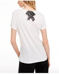 Maison Jules Tie-back Solid T-shirt, Created For Macy's - White