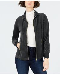 Charter Club - Velour Sport Jacket, Created For Macy's - Lyst