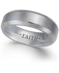 Macy's Faith Beveled Cobalt Ring - Blue