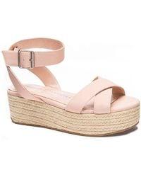 Chinese Laundry Zala Platform Wedge Sandals - Pink