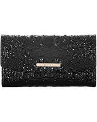 Brahmin Modern Melbourne Embossed Leather Checkbook - Black