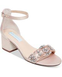 Betsey Johnson - Mel Block-heel Embellished Sandals - Lyst