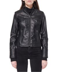 Maralyn & Me Juniors' Faux-leather Jacket, Created For Macy's - Black