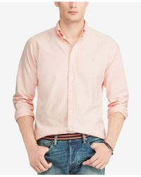 0b282d7a35 Lyst - Polo Ralph Lauren Micro Striped Button Down Pony Shirt ...