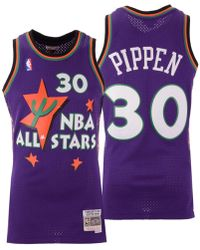 buy popular b5913 2aee9 Mitchell & Ness Synthetic Scottie Pippen Chicago Bulls ...