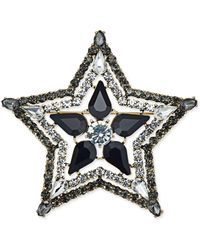 INC International Concepts - Silver-tone Stone & Crystal Star Pin - Lyst