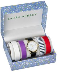 Laura Ashley - Silver Slidethrough Interchangeable Marble Dial Set Watch - Lyst