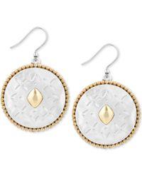 Lucky Brand - Two-tone Patterned Drop Earrings - Lyst