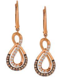 Le Vian - Diamond Infinity Drop Earrings (1/2 Ct. T.w.) In 14k Rose Gold - Lyst
