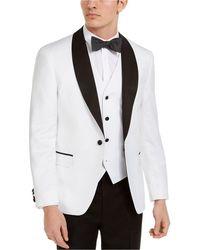 Alfani Slim-fit Tuxedo Jackets, Created For Macy's - White