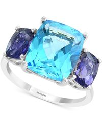 Effy Collection - Effy® Blue Topaz (7-3/4 Ct. T.w.) & Iolite (3/4 Ct. T.w.) Ring In 14k White Gold - Lyst