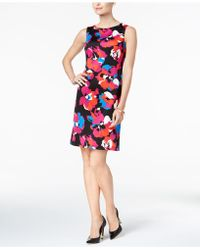 Kasper | Printed Sheath Dress, Regular And Petite | Lyst