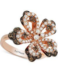 Le Vian - Diamond Flower Ring (1 Ct. T.w.) In 14k Rose Gold - Lyst