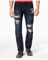 INC International Concepts - Slim-straight Stretch Ripped Jeans, Created For Macy's - Lyst