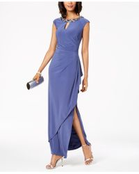 Alex Evenings - Embellished & Draped Keyhole Gown - Lyst
