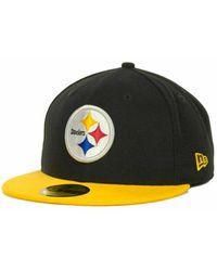 KTZ - Pittsburgh Steelers Black Team 59fifty Cap - Lyst