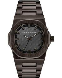 Sean John - Men's Lisbon Gunmetal Bracelet Watch 42mm - Lyst