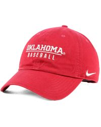 low priced d53a8 0fdc5 Nike Oklahoma Sooners Dri-fit Coaches Cap in Gray for Men - Lyst