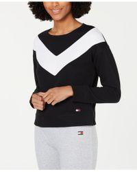 0060e80f62ec4 Tommy Hilfiger - Sport Colorblocked Drop-shoulder Top - Lyst