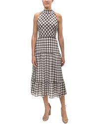 Sam Edelman High-neck Tiered Dress - Black