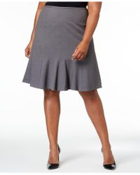17d5f35ea1039 Nine West - Plus Size Stretch Flare-hem Skirt - Lyst