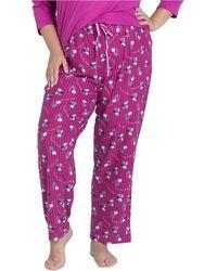 Muk Luks Printed Butter-knit Sleep Pants - Multicolor