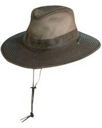 Dorfman Pacific - Weathered Big-brim Mesh Safari Hat - Lyst