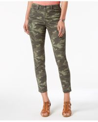 Style & Co. Curvy-fit Skinny Printed Jeans, Created For Macy's - Green