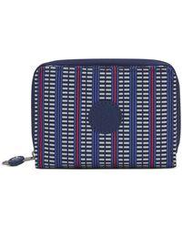Kipling Money Love Nylon Rfid Wallet - Blue