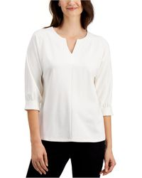 Charter Club - Split-neck Top, Created For Macy's - Lyst