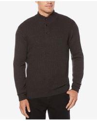 Perry Ellis - Men's Quarter-button Sweater - Lyst